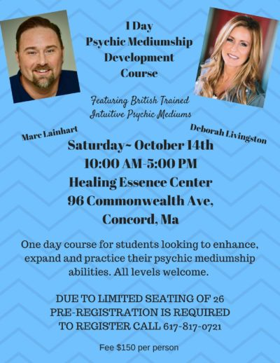 1-Day Psychic Mediumship Development Course with Mark Lainhart and Deborah Livinston